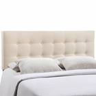 Modway Emily King Tufted Upholstered Fabric Headboard in Ivory MY-MOD-5174-IVO
