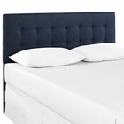 Modway Emily King Tufted Upholstered Fabric Headboard in Navy MY-MOD-5174-NAV