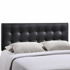 Modway Emily Queen Tufted Faux Leather Headboard in Black MY-MOD-5171-BLK