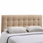 Modway Emily Queen Tufted Upholstered Fabric Headboard in Beige MY-MOD-5170-BEI