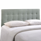 Modway Emily Queen Tufted Upholstered Fabric Headboard in Gray MY-MOD-5170-GRY