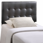 Modway Emily Twin Tufted Faux Leather Headboard in Black MY-MOD-5177-BLK