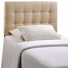 Modway Emily Twin Tufted Upholstered Fabric Headboard in Beige MY-MOD-5176-BEI