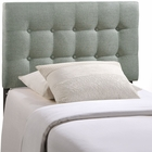 Modway Emily Twin Tufted Upholstered Fabric Headboard in Gray MY-MOD-5176-GRY
