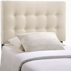 Modway Emily Twin Tufted Upholstered Fabric Headboard in Ivory MY-MOD-5176-IVO