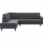 Modway Empress 2 Piece Upholstered Fabric Left Facing Bumper Sectional in Gray MY-EEI-2798-DOR