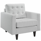 Modway Empress Bonded Leather Armchair in White MY-EEI-1012-WHI