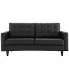 Modway Empress Bonded Leather Loveseat in Black MY-EEI-1546-BLK