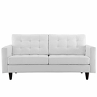 Modway Empress Bonded Leather Loveseat in White MY-EEI-1546-WHI