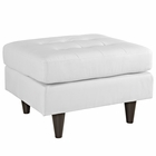 Modway Empress Bonded Leather Ottoman in White MY-EEI-1668-WHI