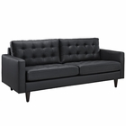 Modway Empress Bonded Leather Sofa in Black MY-EEI-1010-BLK
