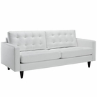 Modway Empress Bonded Leather Sofa in White MY-EEI-1010-WHI