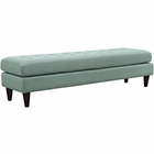 Modway Empress Large Upholstered Fabric Bench in Laguna MY-EEI-2137-LAG
