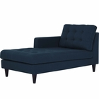 Modway Empress Left-Arm Upholstered Fabric Chaise in Azure MY-EEI-2596-AZU