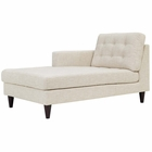 Modway Empress Left-Arm Upholstered Fabric Chaise in Beige MY-EEI-2596-BEI