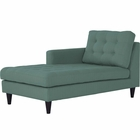 Modway Empress Left-Arm Upholstered Fabric Chaise in Laguna MY-EEI-2596-LAG