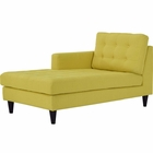 Modway Empress Left-Arm Upholstered Fabric Chaise in Sunny MY-EEI-2596-SUN