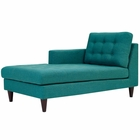 Modway Empress Left-Arm Upholstered Fabric Chaise in Teal MY-EEI-2596-TEA