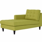 Modway Empress Left-Arm Upholstered Fabric Chaise in Wheatgrass MY-EEI-2596-WHE