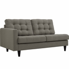 Modway Empress Left-Facing Upholstered Fabric Loveseat in Granite MY-EEI-2589-GRA