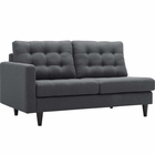 Modway Empress Left-Facing Upholstered Fabric Loveseat in Gray MY-EEI-2589-DOR