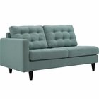 Modway Empress Left-Facing Upholstered Fabric Loveseat in Laguna MY-EEI-2589-LAG