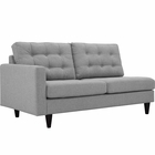 Modway Empress Left-Facing Upholstered Fabric Loveseat in Light Gray MY-EEI-2589-LGR