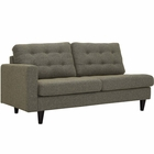 Modway Empress Left-Facing Upholstered Fabric Loveseat in Oatmeal MY-EEI-2589-OAT