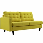 Modway Empress Left-Facing Upholstered Fabric Loveseat in Sunny MY-EEI-2589-SUN