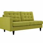 Modway Empress Left-Facing Upholstered Fabric Loveseat in Wheatgrass MY-EEI-2589-WHE