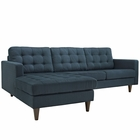 Modway Empress Left-Facing Upholstered Fabric Sectional Sofa in Azure MY-EEI-1666-AZU
