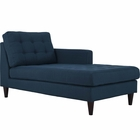 Modway Empress Right-Arm Upholstered Fabric Chaise in Azure MY-EEI-2597-AZU