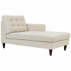 Modway Empress Right-Arm Upholstered Fabric Chaise in Beige MY-EEI-2597-BEI