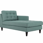 Modway Empress Right-Arm Upholstered Fabric Chaise in Laguna MY-EEI-2597-LAG