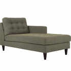 Modway Empress Right-Arm Upholstered Fabric Chaise in Oatmeal MY-EEI-2597-OAT