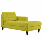 Modway Empress Right-Arm Upholstered Fabric Chaise in Sunny MY-EEI-2597-SUN
