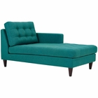 Modway Empress Right-Arm Upholstered Fabric Chaise in Teal MY-EEI-2597-TEA