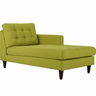 Modway Empress Right-Arm Upholstered Fabric Chaise in Wheatgrass MY-EEI-2597-WHE