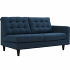 Modway Empress Right-Facing Upholstered Fabric Loveseat in Azure MY-EEI-2595-AZU
