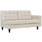 Modway Empress Right-Facing Upholstered Fabric Loveseat in Beige MY-EEI-2595-BEI