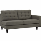 Modway Empress Right-Facing Upholstered Fabric Loveseat in Granite MY-EEI-2595-GRA