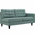Modway Empress Right-Facing Upholstered Fabric Loveseat in Laguna MY-EEI-2595-LAG