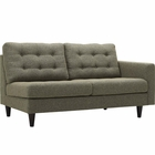 Modway Empress Right-Facing Upholstered Fabric Loveseat in Oatmeal MY-EEI-2595-OAT