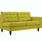 Modway Empress Right-Facing Upholstered Fabric Loveseat in Sunny MY-EEI-2595-SUN