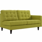 Modway Empress Right-Facing Upholstered Fabric Loveseat in Wheatgrass MY-EEI-2595-WHE