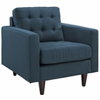 Modway Empress Upholstered Fabric Armchair in Azure MY-EEI-1013-AZU