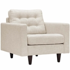 Modway Empress Upholstered Fabric Armchair in Beige MY-EEI-1013-BEI