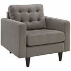 Modway Empress Upholstered Fabric Armchair in Granite MY-EEI-1013-GRA