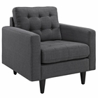 Modway Empress Upholstered Fabric Armchair in Gray MY-EEI-1013-DOR
