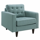 Modway Empress Upholstered Fabric Armchair in Laguna MY-EEI-1013-LAG